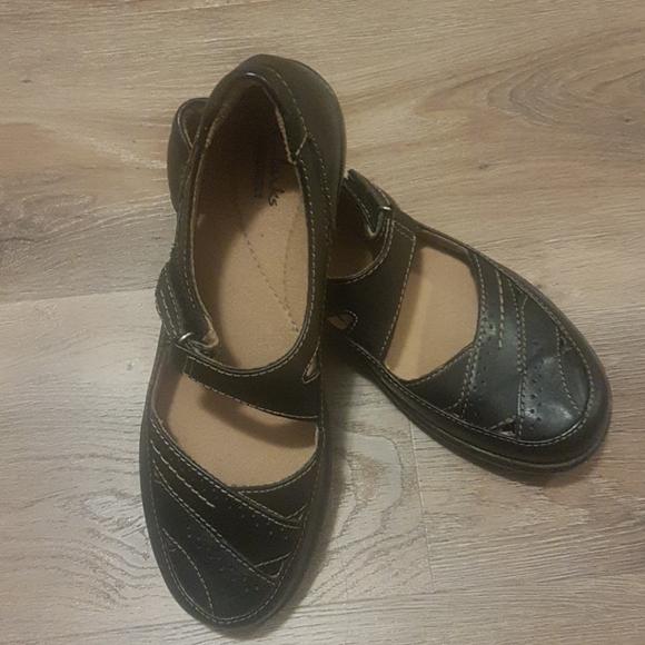 Clarks Black Mary Jane Flats Sz. 8.5